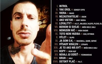 Čistychov má na očakávanom albume kompletne celú scénu vrátane Kontrafaktu, Logica, Kaliho aj Separa. Počúvaj všetky ukážky skladieb