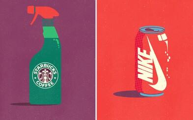 Čo keby známe značky nevyrábali produkty, na ktoré sme u nich zvyknutí? Starbucks by mohol byť napríklad čistiaci prostriedok