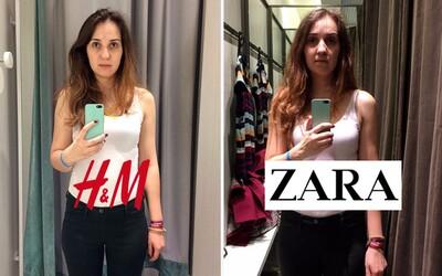Co s tvojí postavou udělají kabinky v H&M nebo Zaře? Populární značky vědí, jak tě přesvědčit o tom, že vypadáš skvěle