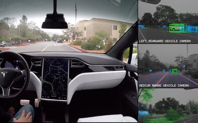 Co vidí Tesla, když jezdí v autonomním režimu? Řídí bez pomoci člověka a dává pozor na vše v okolí