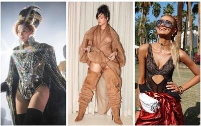 Coachella 2018: Odhalené prsia Rihanny, ale aj outfity typické pre festivaly v podaní známych osobností