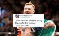 Conor McGregor prekvapil fanúšikov tweetom o odchode do dôchodku. Nebude bojovať ani s Diazom