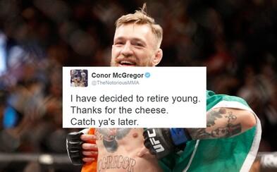 Conor McGregor překvapil fanoušky tweetem o odchodu do důchodu. Nebude bojovat ani s Diazem