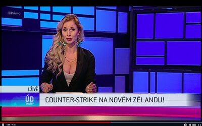 Counter-Strike na Novém Zélandu: TV Prima si utahuje z teroristického útoku, při kterém zemřelo 50 lidí