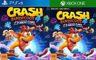 Crash Bandicoot 4: It's About Time předčasně odhaleno. Hra by měla vyjít už letos