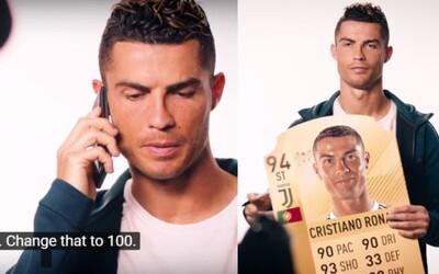 Cristiano Ronaldo chtěl, aby ve FIFA 19 dostal hodnocení 100