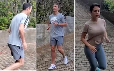 Cristiano Ronaldo s přítelkyní odmítají v karanténě odpočívat. Nyní se ničí sprintem do kopce