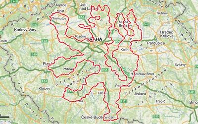 Cyklisté chtějí na mapě Čech vykreslit lva. Vytvoří tak největší znak z ujetých kilometrů na světě