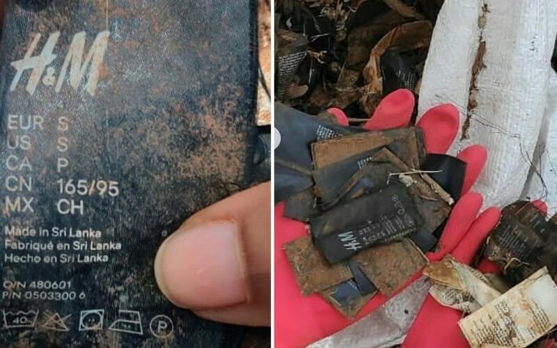 Dobrovolníci našli štítky z oblečení H&M v přírodní rezervaci. Firma tvrdí, že netuší, jak se tam mohly dostat.