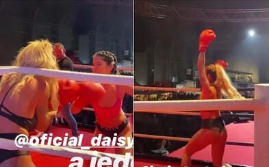 Daisy Lee v ringu porazila Lady Dee. Boxerský zápas mezi pornoherečkami byl plný vzrušujících momentů