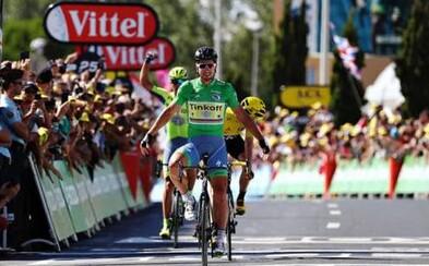 Dal to na pána. Peter Sagan zakončil etapu jazdou na zadnom kolese