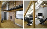 Ďalší príklad dokonalého využitia minimálneho priestoru na plnohodnotné bývanie. Tentokrát z Prahy