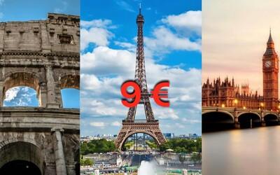 Ďalšie letenkové šialenstvo! Do Barcelony, Londýna či na Malorku sa dostaneš za 10 €