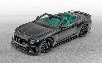 Dalším výtvorom Mansory je 640-koňové Bentley Continental GTC so zeleným interiérom