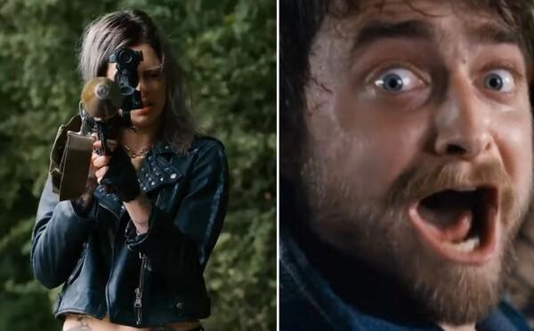 Daniel Radcliffe uteká pred chladnokrvnou vrahyňou s raketometom v rukách. Guns Akimbo bude šialeným akčným filmom