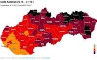 Dáta bez pátosu odhadujú, ktoré ďalšie okresy sa zmenia na čierne. Je v nich nízka zaočkovanosť