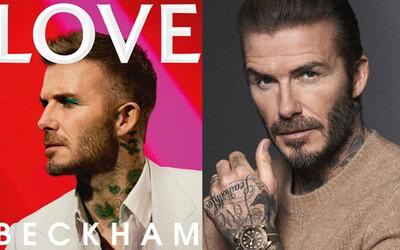 David Beckham pózuje na nové titulce magazínu s makeupem. Oční stíny se některým fanouškům nezamlouvají