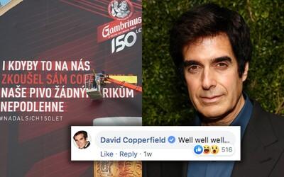 David Copperfield okomentoval fotku Gambrinusu. Vrchní sládek se za ním vydal do Las Vegas