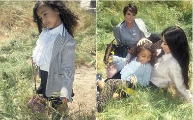 Dcéra Kim Kardashian si už v piatich rokoch zarába slušné peniaze modelingom. Malá North West debutovala v kampani pre Fendi
