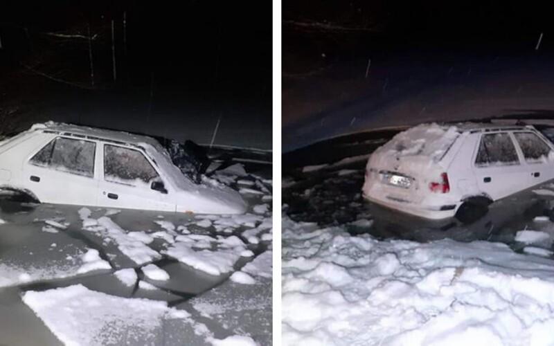 Slovenka sa nevedela 2 hodiny dostať z auta, ktoré sa potápalo do ľadovej vody.