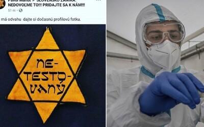 Konšpirátori spájajú testovanie na koronavírus s hokolaustom Židov.