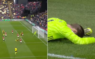 De Gea spravil škôlkársku chybu, United fatálne zlyhal proti poslednému Watfordu a prehral 2:0