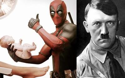 Deadpool měl v potitulkové scéně cestovat v čase a uškrtit novorozeného Hitlera. Místo toho jsme v kině viděli něco ještě geniálnějšího