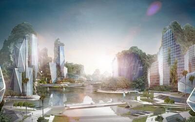 Dechberoucí návrh mrakodrapů vybudovaných ve skalních stěnách je perfektním spojením města a přírody