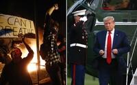 Demonstrace v USA se rozšířily už do 30 měst. Donald Trump se musel skrýt do bunkru