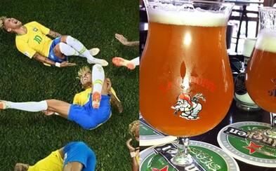 Desiatky tisíc Belgičanov budú piť pivo na ex zakaždým, keď Neymar spadne. Vo veľkej výzve nie je o účasť fanúšikov núdza