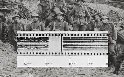 Děsivá nahrávka zachytila moment, kdy skončila první světová válka