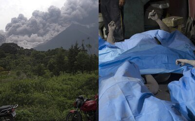 Děsivé scény jako z Pompejí. Výbuch sopky pochovával lidi v Guatemale zaživa, ničil domy, auta i okolní přírodu