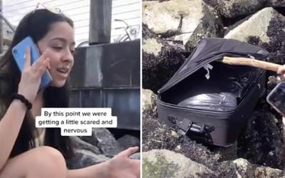Děti z TikToku prý našly kufr plný lidských ostatků. Nejdříve si myslely, že uvnitř budou peníze
