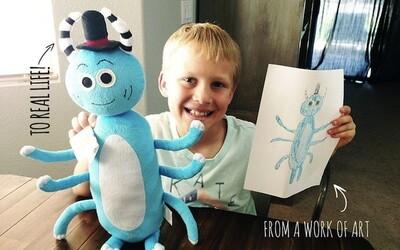 Deťom sa splnil sen, keď sa ich kresby premenili na hračky
