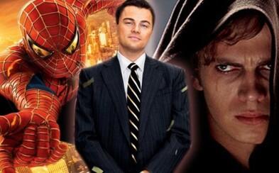 DiCaprio mal pôvodne hrať Spider-Mana od Camerona či Anakina Skywalkera v prequeloch Star Wars!