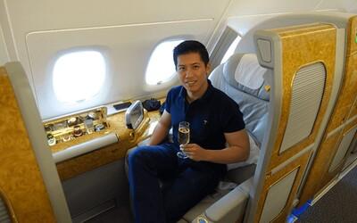 Díky šikovnému triku zaplatil 300 dolarů za výlet v hodnotě 60 tisíc. Létal v první třídě a prošel celý svět