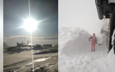 Divoká krása, ale najmä tvrdá makačka. Video z Téryho chaty v Tatrách ukazuje, ako sneh dominuje slovenskej prírode