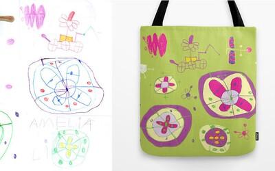 Dizajnérka používa kresby svojej malej dcérky ako inšpiráciu