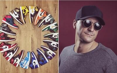 DJ Wich se pochlubil rozsáhlou sbírkou tenisek Nike Air Jordan 1