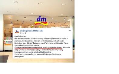 DM drogéria omylom odporučila nákup nebezpečnej žieraviny. O hydroxid sodný v soli do kúpeľa sa postarala tlačová chyba