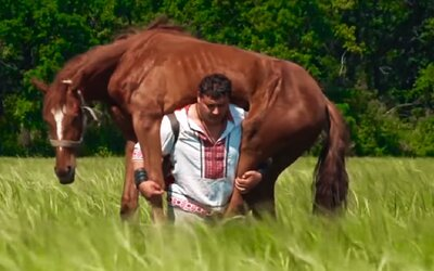 Dmitrij z Ukrajiny je zrejme najsilnejší muž na svete. Dokáže nosiť koňa na chrbte aj pribiť klince holými rukami