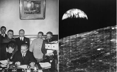 Dnes v minulosti - zmluva o neútočení medzi nacistickým Nemeckom a ZSSR či prvá fotografia Zeme z Mesiaca
