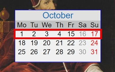 Dni 5. až 14. októbra 1582 nikdy neexistovali. V kalendári ich dnes nenájdeš, čo sa s nimi stalo a kto ich zmazal?