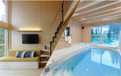 Do tejto horskej chaty v Česku sa budeš chcieť presťahovať. Nájdeš v nej saunu, bazén aj vináreň