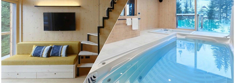 Do této české horské chaty se budeš chtít přestěhovat. Najdeš v ní saunu, bazén i vinárnu