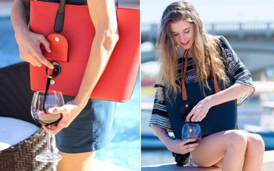Do této kabelky schováš 2 láhve vína a ještě z nich můžeš i nenápadně odlévat. Praktický vynález si ženy pochvalují