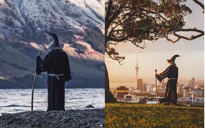 Dobrodruh precestoval Nový Zéland v kostýme Gandalfa. Chcel tak vzdať hold Pánovi prsteňov