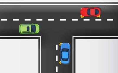 Dokážeš správne určiť, ktoré auto prejde ako prvé? Policajti skúšajú Slovákov, či majú križovatky v malíčku