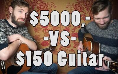 Dokážete zachytiť rozdiel medzi akustickou gitarou za 136 a 4555 eur?