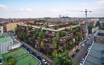 Dokonalé ekologické bydlení? Na bytovém komplexu v Turíně vyrůstá 150 stromů